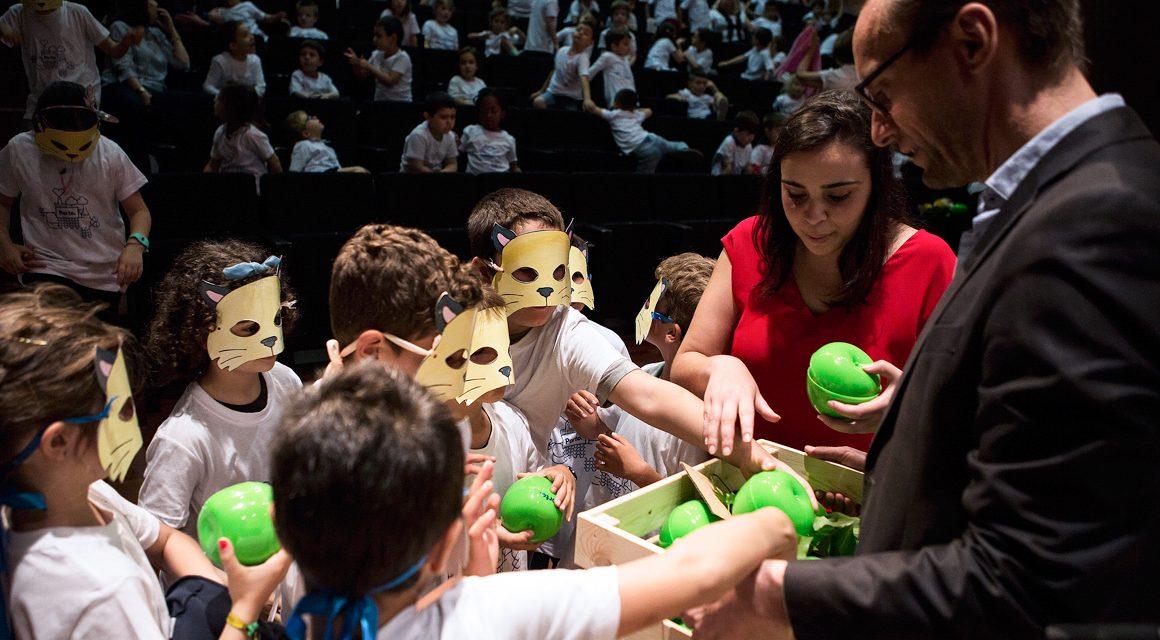 Crianças da EB Paulo da Gama cantam hino em defesa de uma alimentação e estilo de vida saudáveis